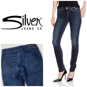 Silver Suki Mid Pencil ✏️ Skinny Jeans👖